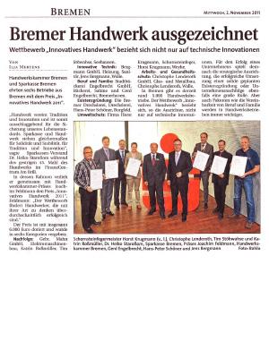 Bremer handwerk ausgezeichnet